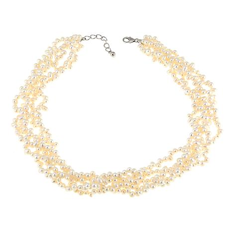 Imperial Pearls 4-5mm Cultured Rice Pearl 5-Row Necklace