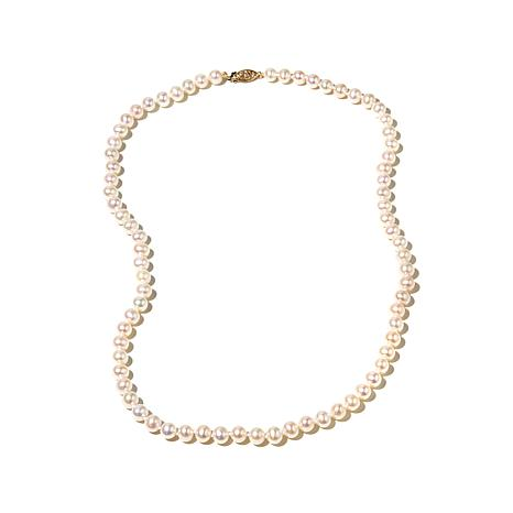 """Imperial Pearls 6-6.5mm Cultured Pearl 14K 20"""" Necklace"""