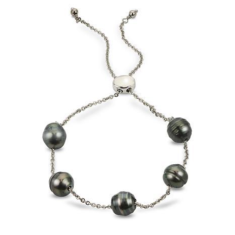 Imperial Pearls 8-9mm Cultured Tahitian Pearl Adjustable Bracelet