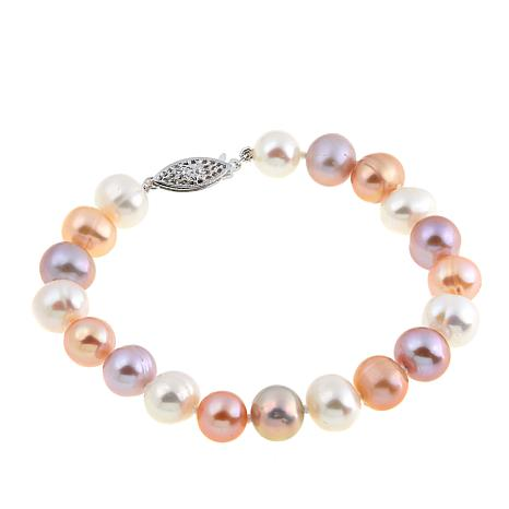 "Imperial Pearls 8.3-9.3mm Multicolor Cultured Pearl 7-1/2"" Bracelet"