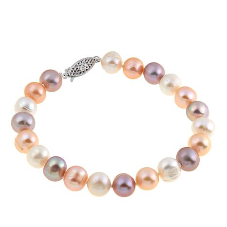 "Imperial Pearls 8.3-9.3mm Multicolor Cultured Pearl 8"" Bracelet"