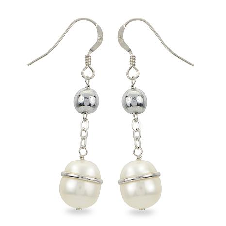 Imperial Pearls Cultured Pearl and Hematite Beaded Dangle Earrings