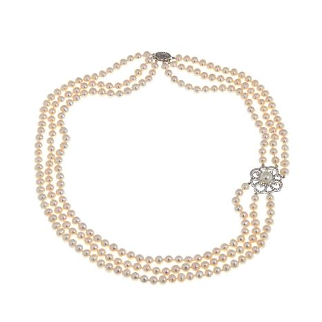 Imperial Pearls Cultured Pearl Flower Necklace