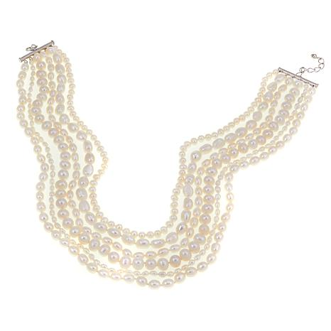 "Imperial Pearls Mixed Cultured Pearl 6-Strand 17-1/2"" Necklace"