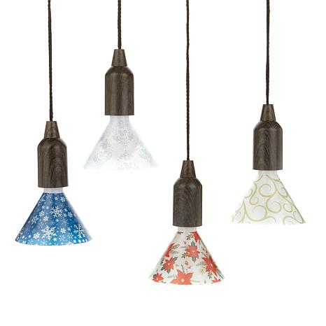 improvements 24-pack pendant pull light shades - 6 each of 4 designs