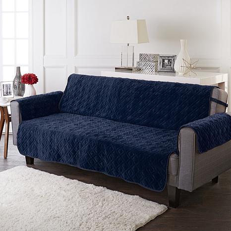 Improvements Secure Fit Plush Sofa Protector