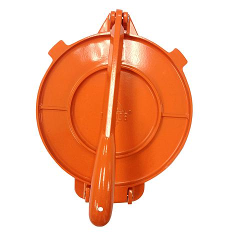 "IMUSA  8"" Cast Aluminum Tortilla Press - Orange"