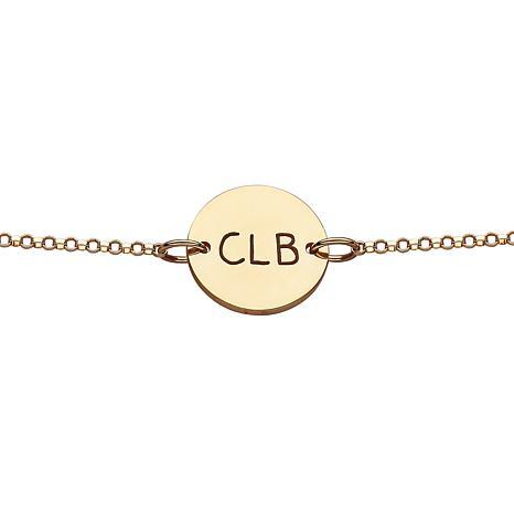 Initials Disc Bracelet