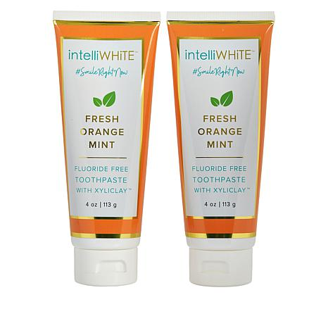 intelliWHiTE® Orange Mint Fluoride-Free Toothpaste with Xyliclay™ Duo