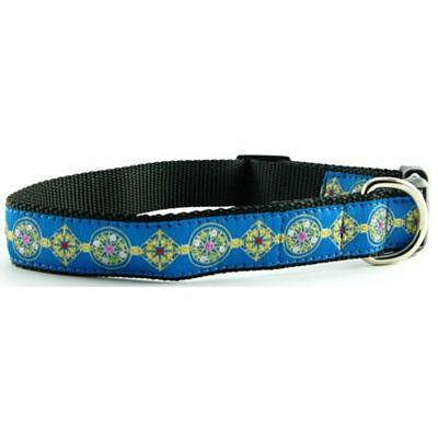 Isabella Cane Dog Collar - Jewels Blue M