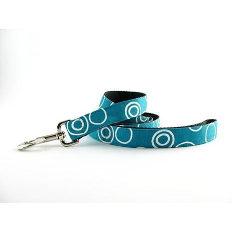 Isabella Cane Dog Leash - Turquoise Circles 5ft N
