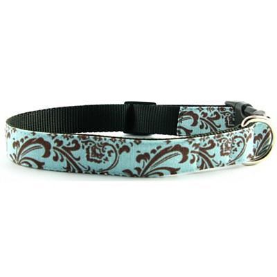 Isabella Cane Trellis Dog Collar - ChocBlue L