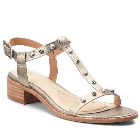 Isola Giana Studded Leather T-strap Sandal