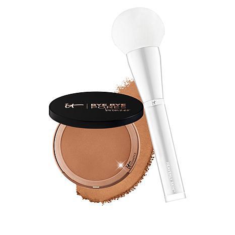 IT Cosmetics Bye Bye Pores Silk Matte Pressed Bronzer with Brush