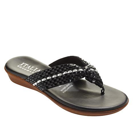 Italian Shoemakers Aylen Woven Thong Sandal