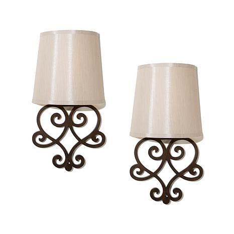 It's Exciting Lighting 2pk Battery-Powered Wall Sconce Set