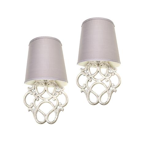 itu0027s exciting lighting scroll light 2pk - Battery Operated Sconces