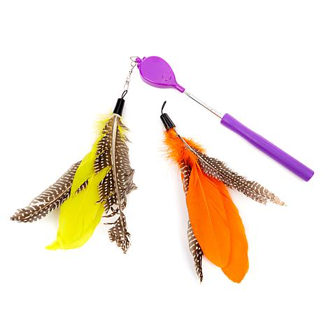 Jackson galaxy air prey wand cat toy bundle 8474443 hsn for Jackson galaxy pet toys