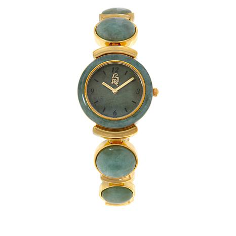 Jade of Yesteryear Graduated Green Jade Bracelet Watch