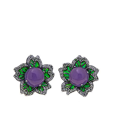 scott earrings jade purple danielle in jewelry kendra lyst