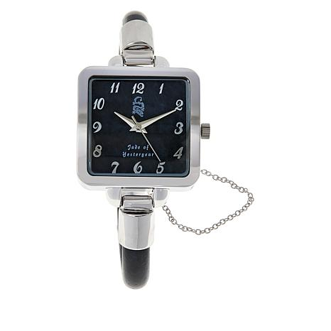 Jade of Yesteryear Silvertone Jade Bangle Watch with Magnetic Clasp