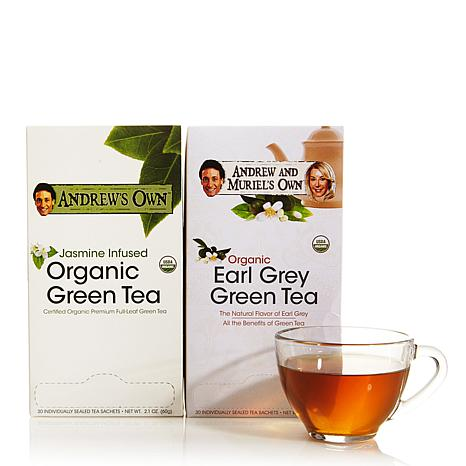 Jasmine Green Tea AND Earl Grey Green Tea - 30 + 30