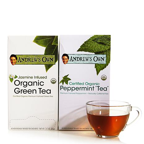 Jasmine Green Tea AND Peppermint Tea - 30 + 30