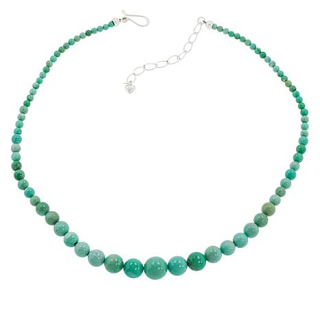 """Jay King 18"""" Sterling Silver Graduated Beaded Necklace"""