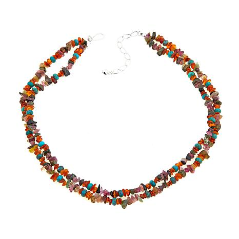 "Jay King 2-Strand Multigemstone 18"" Necklace"