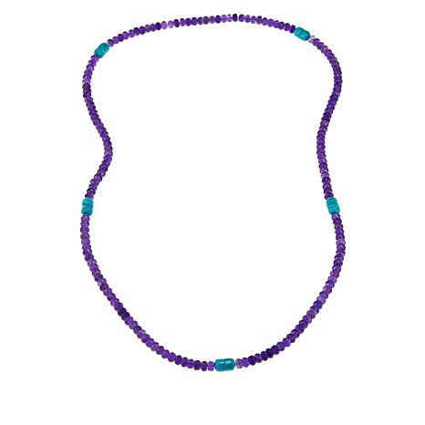 "Jay King 5-Segment Multi-Gemstone Bead ""Everything"" Necklace"