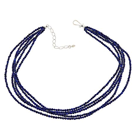 """Jay King 5-Strand Lapis Sterling Silver 18"""" Necklace"""