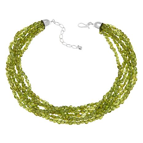 "Jay King 7-Strand Peridot Bead Layered 18"" Necklace"