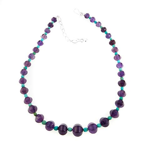 """Jay King Amethyst and Turquoise Bead 18"""" Necklace"""