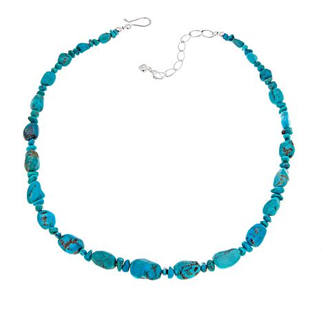 "Jay King Andean Blue Turquoise Bead 18-1/4"" Sterling Silver Necklace"
