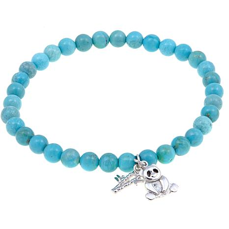 Jay King Andean Turquoise Bead Bracelet with Charms