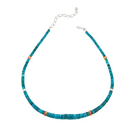 "Jay King Azure Peaks Turquoise and Shell Heishi Bead 18"" Necklace"
