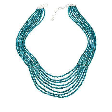 "Jay King Azure Peaks Turquoise Bead Multi-Strand 18"" Necklace"