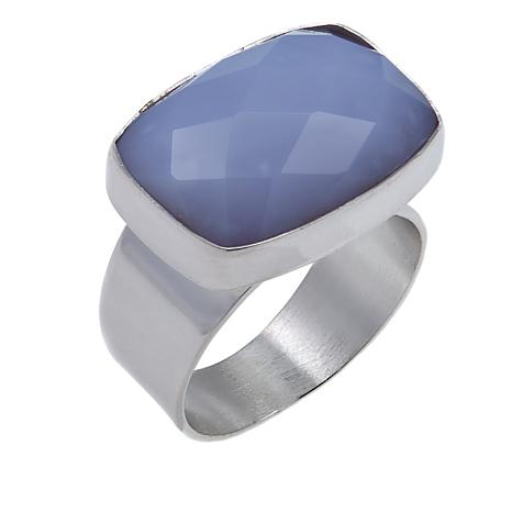 Jay King Blue Agate Sterling Silver Ring