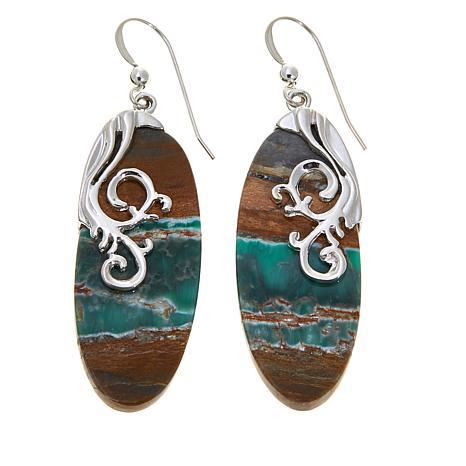 Jay King Boulder Variscite Sterling Silver Earrings