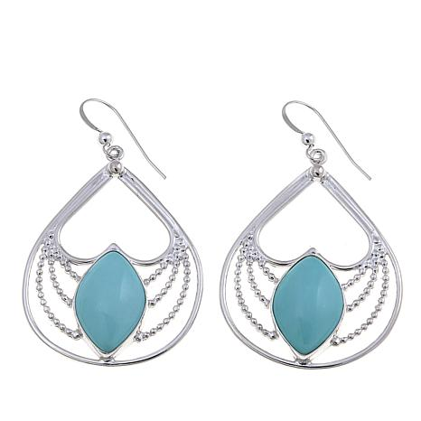 Jay King Campitos Turquoise Drop Earrings