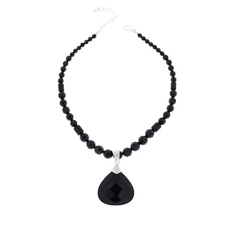 Jay King Chocolate Flint Chalcedony Pendant with Necklace