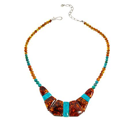 Jay King Gallery Collection Amber and Azure Peaks Turquoise Necklace