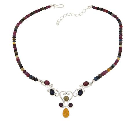 Jay King Gallery Collection Multi-Color Sapphire Necklace