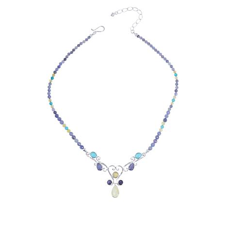 Jay King Gallery Collection Tanzanite, Opal and Turquoise Necklace
