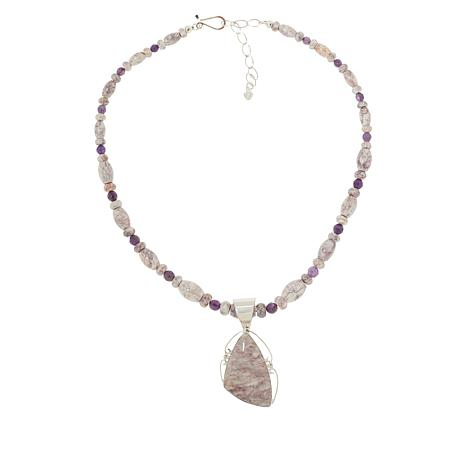 Jay King Gallery Collection Violet Opal and Amethyst Pendant