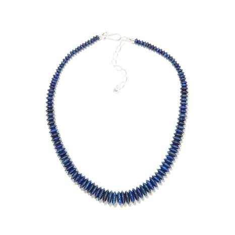 "Jay King Graduated Lapis Bead 18"" Necklace"