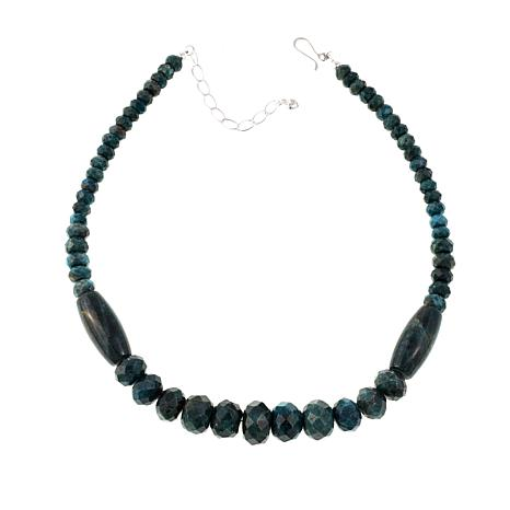 "Jay King Graduated Teal Apatite Bead 18"" Necklace"