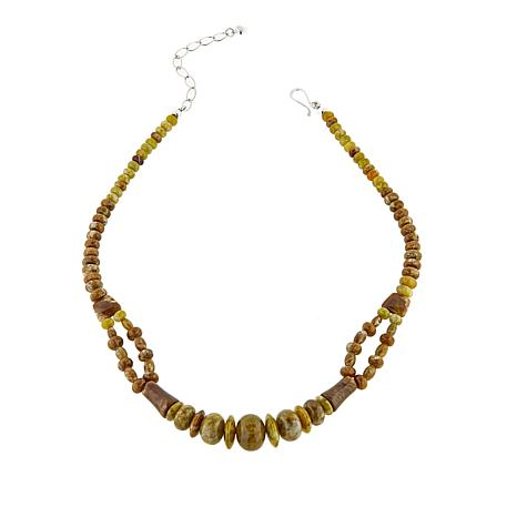 """Jay King Honeycomb Serpentine Sterling Silver 18"""" Necklace"""