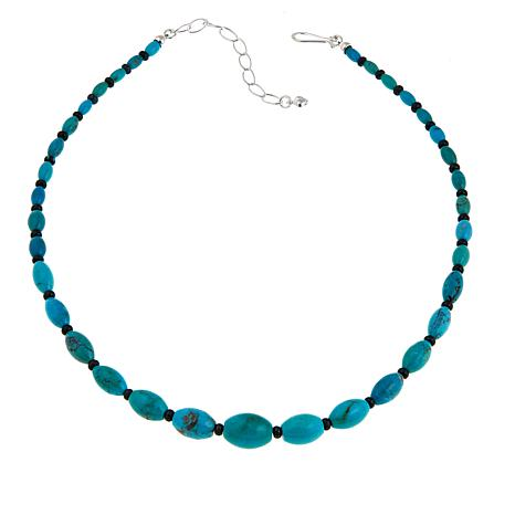 "Jay King Iron Mountain & Hubei Turquoise 18"" Sterling Silver Necklace"
