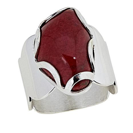 Jay King Kandy Apple Red Coral Sterling Silver Ring